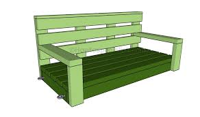 porch building plans free porch swing plans howtospecialist how to build step by