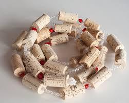 tree garland wine cork garland wine decor unique