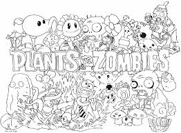 plants vs zombies all character coloring pages cartoon images