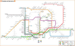 The L Train Map Barcelona Local Trains Renfe Rodalies Services In The Barcelona Area