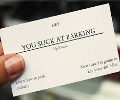business cards you at parking business cards