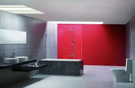Red Bathroom Ideas Red And Gray Bathroom