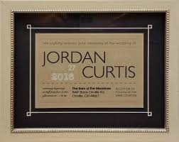 wedding invitation frames the framer u0027s gallery