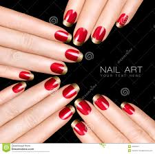 nail art red nail art designs and gold christmas manicure easy