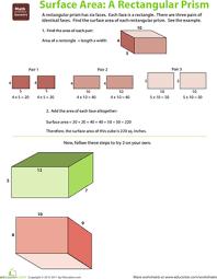 surface area of a rectangular prism worksheets free worksheets