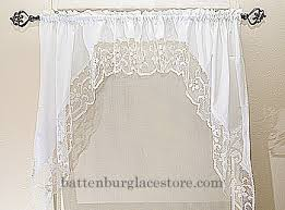 Battenburg Lace Curtains Panels Windows Curtain Set