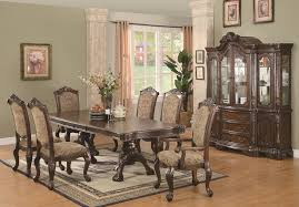 cherry dining room set regular height formal dining double pedestal dining table set co