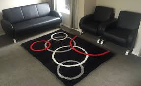 small black white red u0026 grey circles rug indulgence furniture