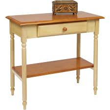 White Entryway Table by Office Star Country Cottage Foyer Table In Antique Yellow