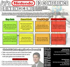 Meme Drinking Game - nintendo e3 drinking game tv drinking games know your meme
