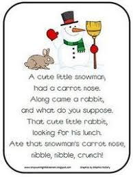 snowman poem preschool items juxtapost