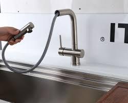 Copper Faucet Kitchen Endearing Moen Copper Finish Kitchen Faucet Shining Kitchen Design
