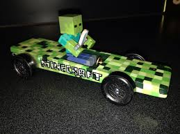 minecraft car real life the creeper minecraft pinewood derby car my son did 95 of it no