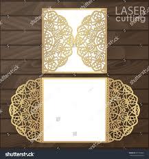 Wedding Invitation Folded Card Laser Cut Wedding Invitation Card Template Stock Vector 677751820