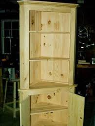 Free Wood Corner Shelf Plans by Make A Corner Useful Rustic Country Wood Pine Corner Cupboard Diy