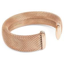 cuff bracelet from images West coast jewelry rose goldtone stainless steel mesh cuff