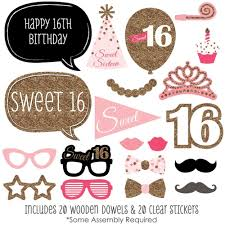 photo booth prop sweet 16 birthday photo booth props kit 20 count ebay