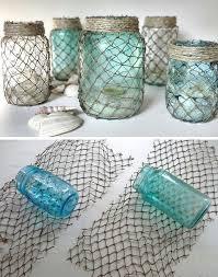 nautical themed bathroom ideas decorate some useful jars with netting coastal pinterest jar