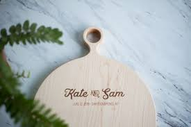 wedding gifts engraved personalized wood cutting board adirondack kitchen