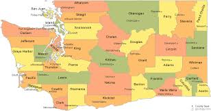 seattle map by county washington county map