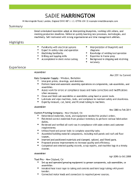 Self Motivated Resume Examples by Best Assembler Resume Example Livecareer