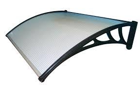 tettoia in plastica pensilina in policarbonato 150x100 cm struttura in abs modulabile