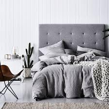 home republic vintage washed quilt cover grey marle bedroom