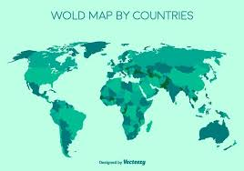 vector map of the world vector detailed green world map free vector stock
