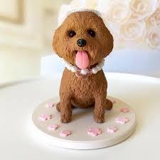 dog cake topper custom poodle cake topper dog wedding cake topper