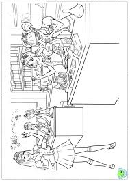 barbie princess charm colouring pages print barbie doll
