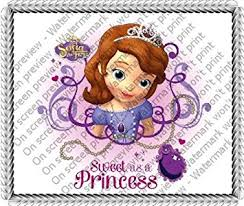 sofia the cake topper 6 disney princess sofia the birthday edible image cake