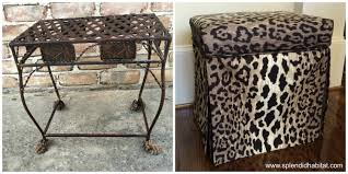 from drab to fab how to transform a wire stool to a vanity seat