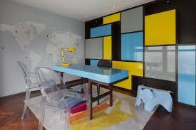 appartement chinois déco colorée bureau