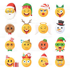set of christmas emoticons icons stock vector art 623438442 istock
