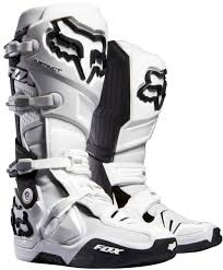 motorcycle racing boots for sale brand new fox racing white black instinct boots size 9 for sale