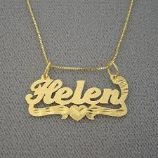 14k name necklace junior size personalized 14k gold name necklace nn05 ebay