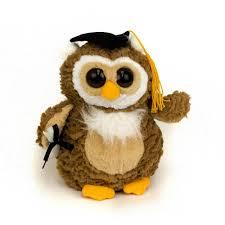 graduation owl wholesale stuffed animal 9 graduation owl g235 plush in a