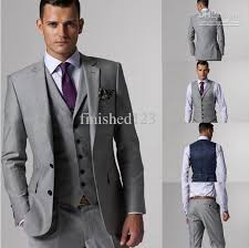 what color shirt with light grey suit customize slim fit groom tuxedos groomsmen light grey side vent