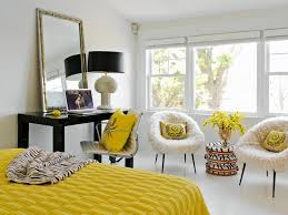 Cheery Yellow Bedrooms HGTV - Grey and yellow bedroom designs