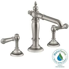 Small Bathroom Faucets Kohler Artifacts 8 In Widespread 2 Handle Column Design Bathroom