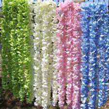 Blue Flower Vine - compare prices on flowers artificial green vine white online