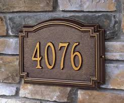 decorative house number signs wall address plaques for homes all