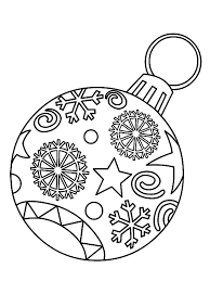 ornament light bulb colouring page colouring