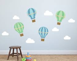 Wall Art Decals For Nursery by Hot Air Balloon Kids Wall Decal Air Balloon Nursery Wall