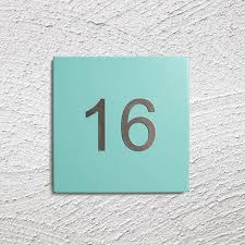 steel house number plate by kelly contemporary
