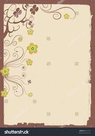 blank page with flowers