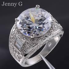 diamond men rings images Men 39 s big round diamond simulated white sapphire 18k gold filled jpg