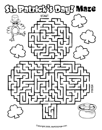 St Patrick S Day Maze Free Coloring Pages For Kids Printable Day Printable Coloring Pages