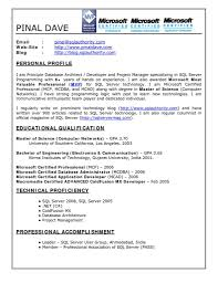 Educational Qualification In Resume Format Sql Developer Resume Sample Free Resume Example And Writing Download