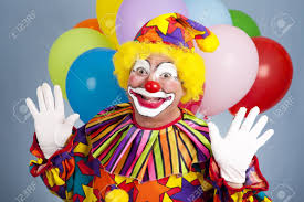 clown baloons happy birthday clown with balloons holding his in a